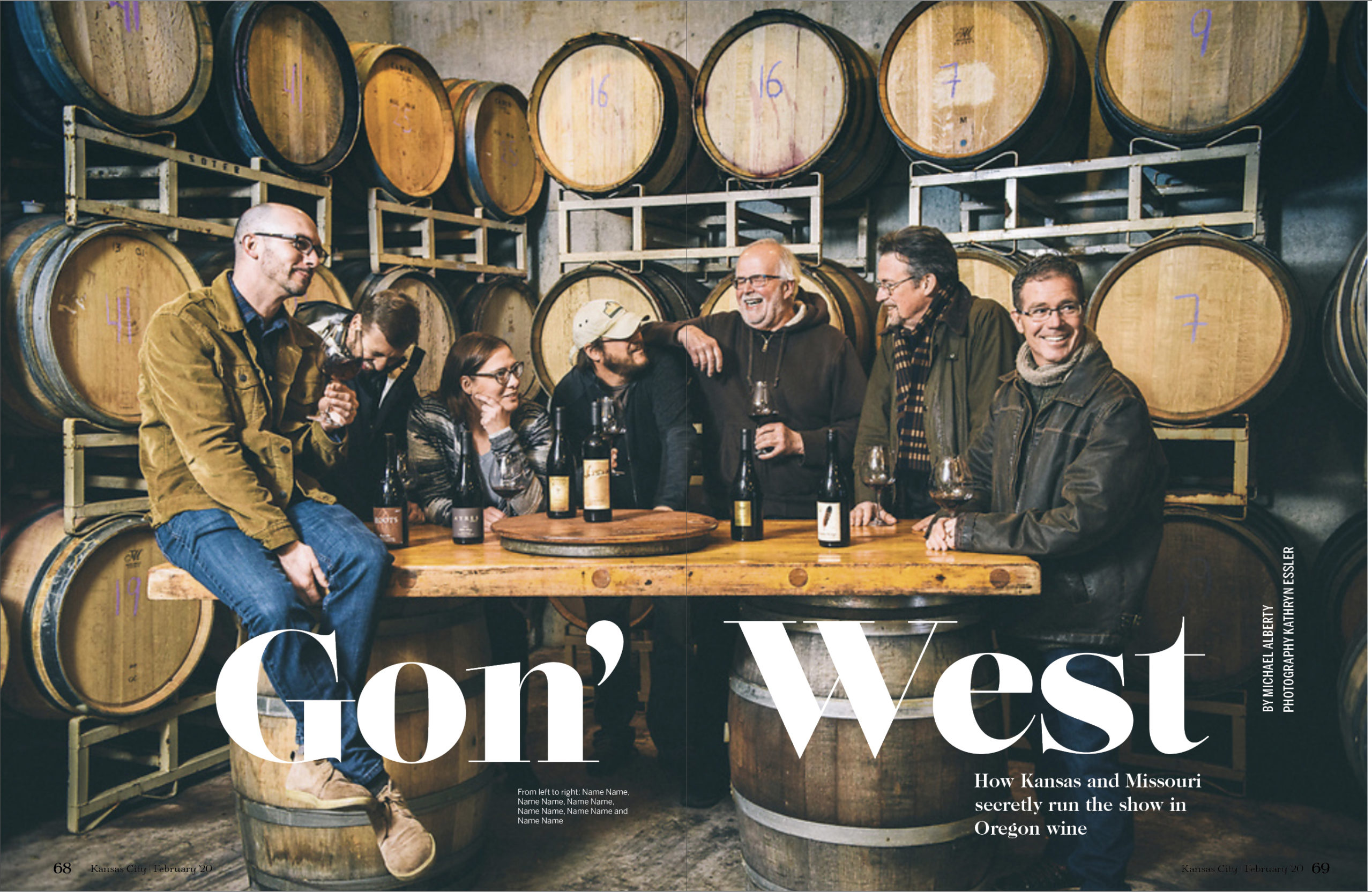 Oregon Winemakers for Kansas City Magazine